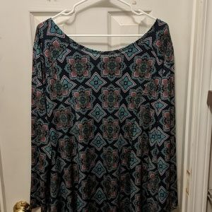 Long Patterned tunic top